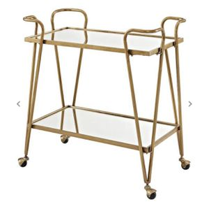 Linon Gold Mid-Century Bar Cart for Sale in Kansas City, MO