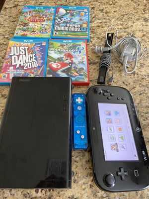 Nintendo wii u console with games for Sale in Chula Vista, CA