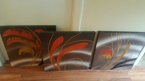3pieces wall art for Sale in North Chesterfield, VA