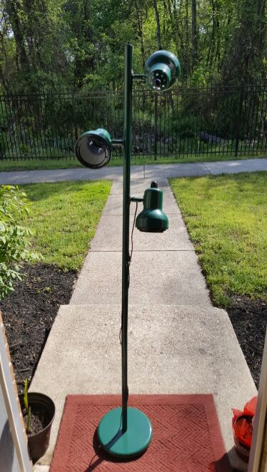 "Floor Green Lamp 64"" tall"