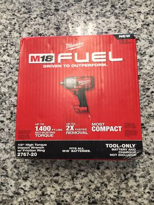 M18 FUEL Lithium-Ion Brushless Cordless 1/2 in. Impact Wrench with Friction Ring (Tool-Only)#15980-1 for Sale in Revere, MA