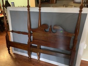 Solid Cherry Wood -twin size bedroom suit (poster bed, dresser, mini chest) for Sale in Alexandria, VA