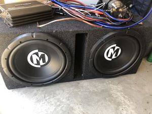 """Memphis audio 12"""" subwoofer (2) for Sale in Brentwood, CA"""