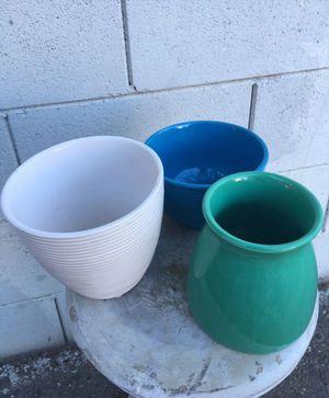 Small pots no hole. 9 per all for Sale in Fresno, CA