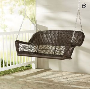 Resin wicker porch swing for Sale in Centreville, VA