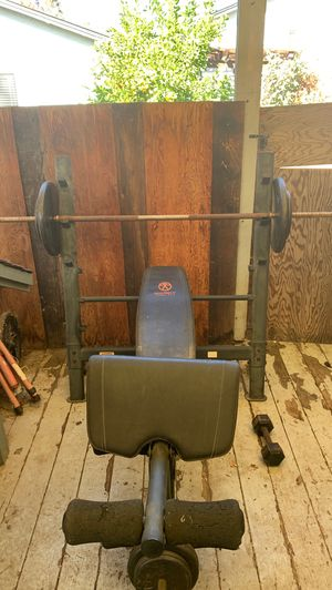 Weight bench set for Sale in Pleasanton, CA