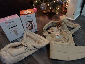 Ergobaby Original Camel Beige Baby Carrier Ergo Infant Insert Position, Cotton for Sale in Parma, OH