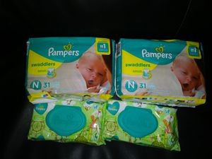 Pañales pamper newborn for Sale in Phoenix, AZ