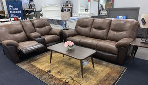 Reclining double tone living set for Sale in Lehigh Acres, FL