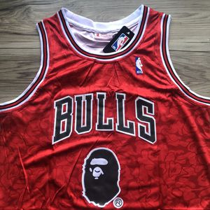 ONLY ONE! 🔥 Michael Jordan #23 Chicago Bulls BAPE EDITION NBA Jersey + Size Large + SHIPS OUT TODAY! 📦💨 for Sale in West Hollywood, CA