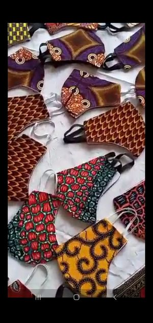Unisex African print face masks - Buy 10 pieces for $65 for Sale in Baltimore, MD