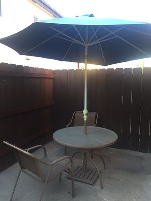 Patio Table Set & 2 Chairs (blue) for Sale in La Mesa, CA