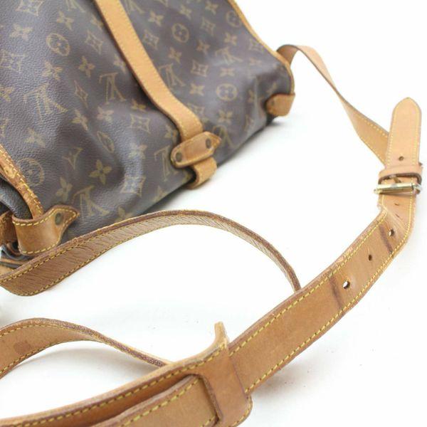 Authentic Louis Vuitton Saumur35 M42254 Brown Monogram Shoulder Bag 11337