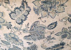 Linen Blend Upholstery Fabric Blue Beige for Sale in Savannah, GA