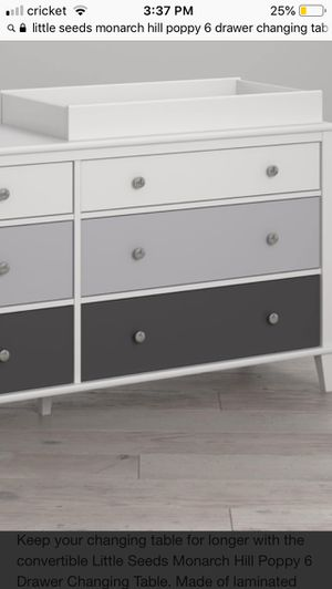 Little poppy seed changing table 6 draws for Sale in Buffalo, NY