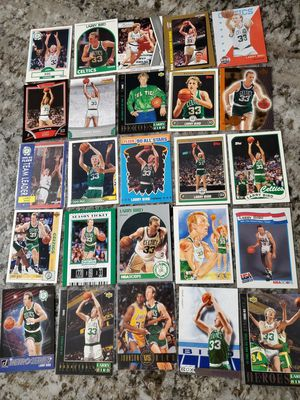 Lot of 25 LARRY BIRD Celtics cards for $25 for Sale in Clovis, CA