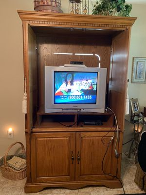 Solid wood entertainment center for Sale in Sherman, TX