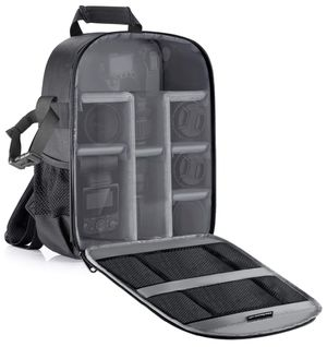 Camera Bag Waterproof Shockproof Partition 11x6x14 inches/27x15x35 centimeters Protection Backpack for SLR, DSLR, Mirrorless Camera, Lens, Flash, Bat for Sale in Plainfield, NJ