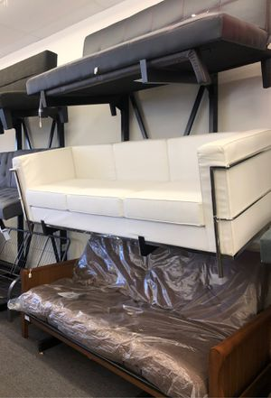 White leather couch for Sale in Houston, TX