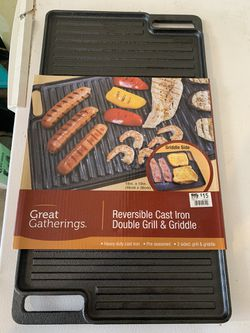 Cast Iron Double Sided Griddle for Sale in Platteville, CO