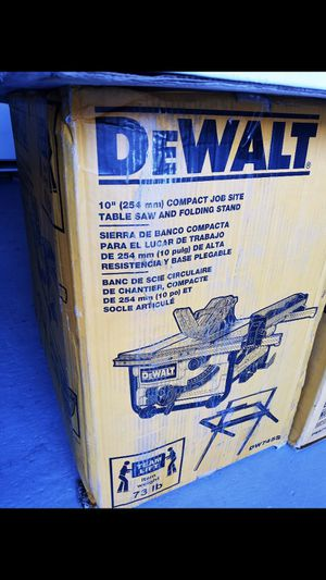 New table saw dewalt never used in box for Sale in West Valley City, UT