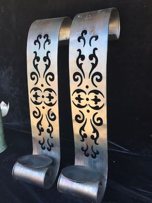 Beautiful metal candle holder, H22 x W5 inch for Sale in Chandler, AZ