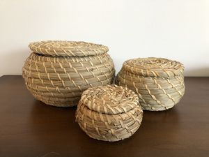 Decorative woven baskets for Sale in Seattle, WA