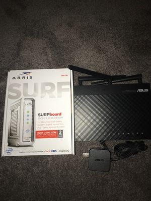 ASUS Router and Arris surfboard cable modem for Sale in Bremerton, WA