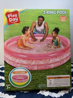 NEW 3 RING easy PINK POOL BRAND NEW IN BOX 5.5 ft Wide NEVER USED NEW IN BOX for Sale in Buena Park, CA