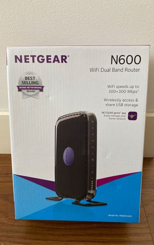 Netgear N600 WiFi dual band router Wi-fi for Sale in San Francisco, CA