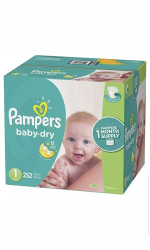 Diapers Disposable Newborn / Size 1 ( 8-14 Lb ) , 252 Count Pampers Baby Dry ONE for Sale in Miami, FL