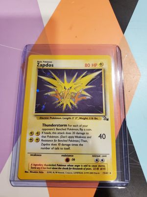 Pokemon card Zapdos fossil holo mint condition for Sale in The Bronx, NY