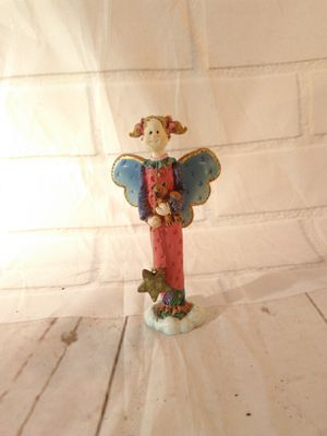 """5"""" Rus heavenly angel girl teddy bear statue collectible rare for Sale in Arlington, MA"""