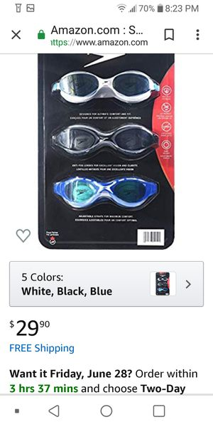 Speedo Adults Swim Goggles Set for Sale in Washington, DC