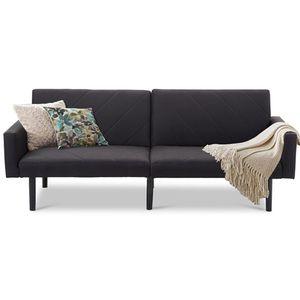 Modern Black Linen Split-Back Futon Sleeper Sofa Bed Couch.FF-7675677888FS. for Sale in San Francisco, CA