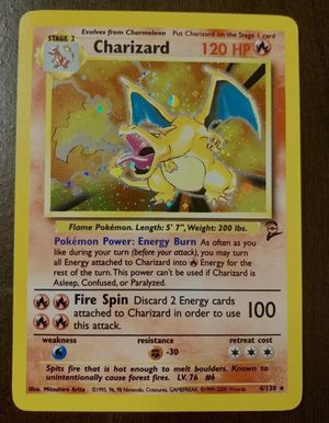 Base set 2 charizard card near mint for Sale in Denver, CO