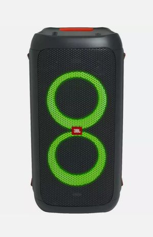 Brand new JBL speaker Partybox100. Bluetooth. USB. Rechargeable battery. Can mount on a pole. NUEVO EN CAJA. for Sale in Doral, FL