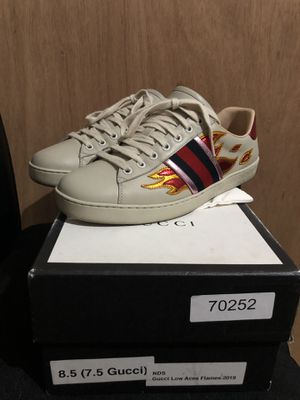 Authentic Gucci ace flames size 8.5 for Sale in San Lorenzo, CA