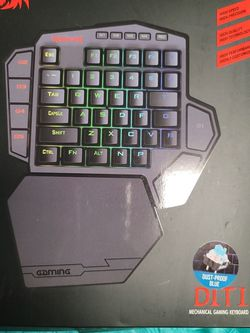 Redragon K585 DITI One-Handed RGB Mechanical Gaming Keyboard, Type-C Professional Gaming Keypad with 7 Onboard Macro Keys, Detachable Wrist Rest, 42 K for Sale in Kissimmee,  FL