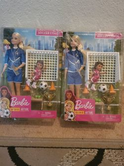 New Barbie Soccer Coach ($18 Value Each) for Sale in Ripon,  CA