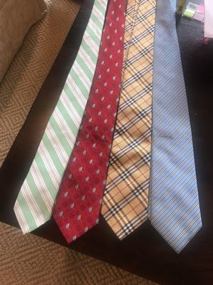 4 men's ties - Burberry, Brooks Brothers, Jos A Bank for Sale in Dallas, TX