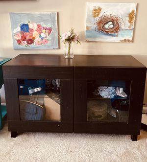 Ikea tv stand with glass door and shelves for Sale in Alexandria, VA