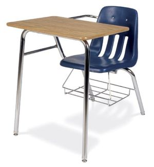 Virco 9000 Series Soft Plastic Student Chair Desk Combo with Bookrack for Sale in Pomona, CA