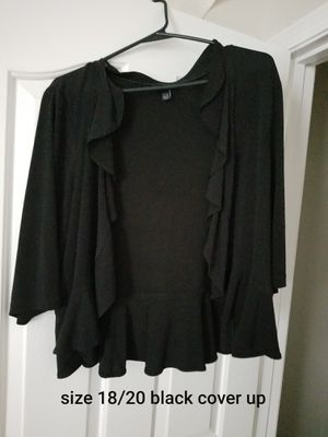 Size 18/20 black cover up for Sale in Murfreesboro, TN