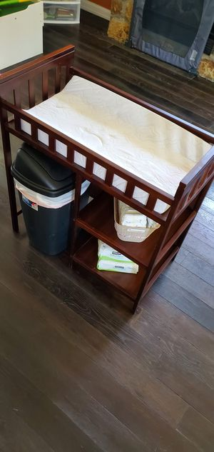 """Wood Baby Changing Table w/ Storage - Cherry Finish - 36""""x36""""x24"""" for Sale in Las Vegas, NV"""