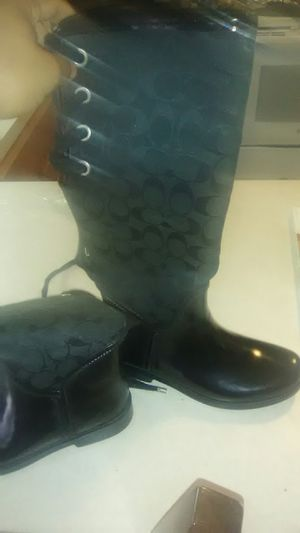 Coach rain boots size7 for Sale in Reynoldsburg, OH