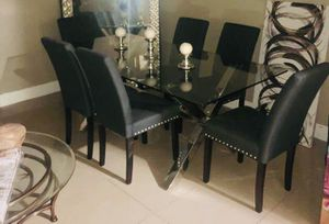 Glass table, 6 Chairs for Sale in Fort Lauderdale, FL