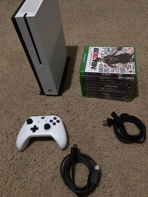 Xbox one s + 10 games for Sale in Raleigh, NC