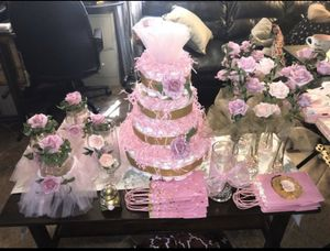 Tutu or garden baby shower package for Sale in Whittier, CA