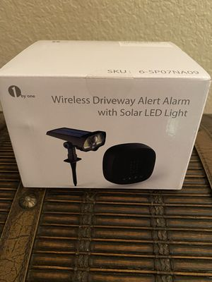 Murrieta (LOS ALAMOS & HANC0CK) PICK UP ONLY ‼️BRAND NEW‼️BRAND NEW‼️ Solar Driveway Alarm with Solar LED Lights - Motion Sensor & 2-in-1 Wireless Wa for Sale in Murrieta, CA